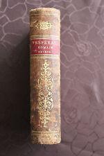 Vespéral Romain Nevers 1863 Chants de Messe Cantiques Partitions