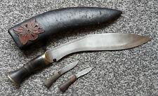 Vintage Gurkha Indian Kukri Khukri Knife Buffalo Horn Leather Scabbard Marked