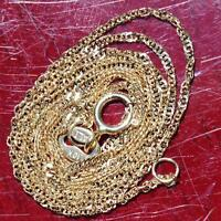 "Alishaev 10k yellow gold necklace  16.0"" Singapore link chain vintage 0.8gr"