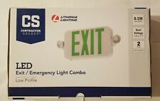 Lot Of 2 Lithonia Exitemergency Light Combo 120277 Volt Integrated 05w Lamps