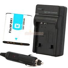 NP-BK1 Type K Battery+Charger for SONY CyberShot DSC-DSC-W180 W190 W370 MHS-PM1