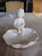 Schöne Schale sitzender Engel Porzellan altweiß 26