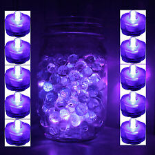 Set of 10 Purple Submersible Bright Led tea light wedding home decoration Free S