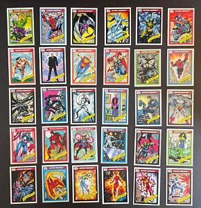 1990 Marvel Universe Series 1 (Impel) BASE 30 Card Lot SUPER HEROS Favorites!