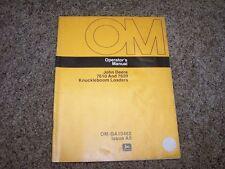 John Deere 7610 7620 Knuckleboom Loader Owner Operator Manual OM GA10482