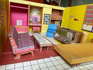 VINTAGE ORIGINAL1962 BARBIES Barbie DREAM doll HOUSE FURNITURE mid century MCM