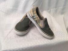 Euc Gymboree Boys Boat Slip ons Shoes. Size 10 Color Plaid and Gray