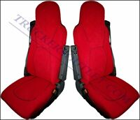 DAF VELOUR SEAT COVERS DAF IN RED  [TRUCK PARTS & ACCESSORIES]