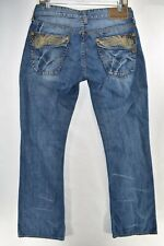 Guess Falcon Boot Cut Fit Mens Bootcut Jeans Size 30 Blue Meas 30x33 Flap Pocket