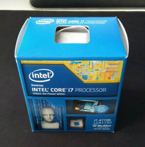 Intel Core i7 4770K, SR147 Haswell, LGA1150, 3,5 GHz + CPU Cooler
