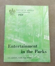 VINTAGE BOROUGH OF KEIGHLEY ENTERTAINMENT IN THE PARKS BROCHURE 1959