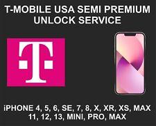 T-Mobile USA Semi Premium Unlock Service, fits iPhone 8, X, XR, XS, 12, 13 Pro