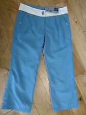 LADIES CHIEMSEE TORRY BLUE CUT DOWN PANTS/TROUSERS SIZE SMALL 10 UK NEW