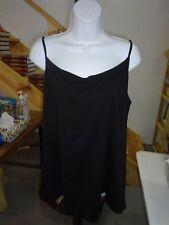 Womens size 3X 22W/24W Black Cami Tank Top Faded Glory Spaghetti Straps NEW