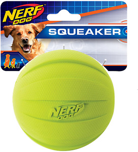 Nerf Dog Squeak Ball, 4.25-Inch, Green , New, Free Shipping