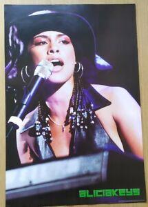 Retro Quality Poster Music A1 Large Deadstock Alicia Keys Rare