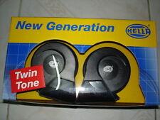 Electric Horn GENUINE Hella Twin Tone Black Porsche SETRELAY UTE BENZ VW BMW