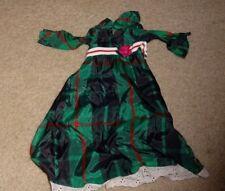 1970's Ideal Crissy Doll Plaid Maxi Dress