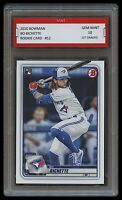 BO BICHETTE 2020 BOWMAN (Topps) 1ST GRADED 10 ROOKIE CARD RC TORONTO BLUE JAYS