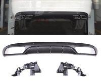 Für Mercedes-Benz C-Klasse W205 AMG Look Diffusor Stoßstange Auspuff Grill