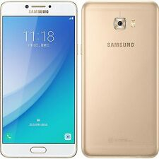 "New Imported Samsung Galaxy C7 Pro Duos Dual 64GB 4GB 5.7"" 16MP 16MP Gold"