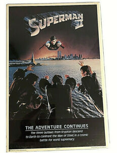 1980 Superman 2 Movie Poster