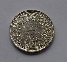 1862 British India Silver 1 Rupee Coin - Victoria Queen -  Super Grade Rare