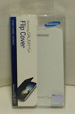 NEW Original OEM White Samsung GALAXY S4 Flip Cover Cell Phone Case