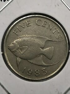 1983 Bermuda Five Cent Foreign Coin #0664