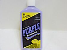 CALIFORNIA CUSTOM PURPLE METAL POLISH WAX 12 OZ BOAT MOTORCYCLE ALUMINUM CHROME