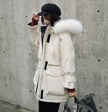 Womens Winter Designer Inspired down jacket Real Fur collar Duck Down Coat Parka