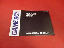 Four Player Adapter Nintendo Game Boy Instruction Manual Booklet ONLY