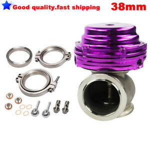 38MM New V-BAND EXTERNAL WASTEGATE PURPLE TIAL STYLE MVS Water/Air Cooled