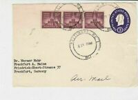 United States 1952 Baltimore cancel Stamped envelope front stamps cover ref21722