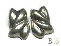Vintage Ladies Sterling Silver Clip-On Earrings - MEXICO - A Must See!