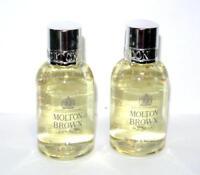 2 x Molton Brown Orange & Bergamot Bath & Shower Gel 1.7 fl.oz each travel size