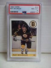 1985 Topps Ray Bourque PSA NM-MT 8 Card #40 NHL HOF Boston Bruins