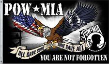 Pow-Mia You Are Not Forgotten 3 x 5 Foot Flag Vet