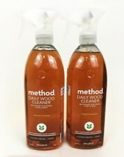 Method Daily Wood Cleaner Almond Scent Lot 2 - 28 fl oz Plant Based Wood Cleaner