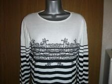 new look long length striped cotton jumper size 14