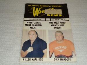 1975 Wrestling News Magazine Addressed to Jack Adkisson (Von Erich) Sportatorium