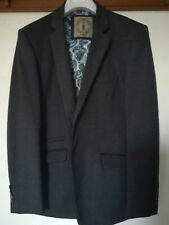 House of Cavani Blue 2button, slim fit jacket . Size44 (navy and purple trim)
