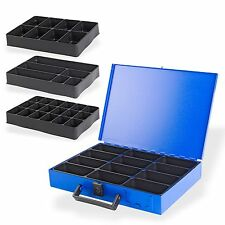 Metall Sortimentskasten Sortimentskoffer Kleinteilekoffer +  Einleger 18 Fächer