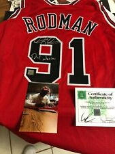 Autographed Dennis Rodman Chicago Bulls jersey Insc Worm SSG certified signed