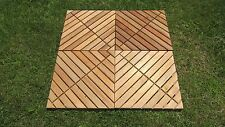 """4 Pack Nyatoh Wood Floor Squares with Oil Finish New 18"""" x 18"""" Patio and Garden"""