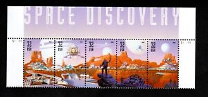 USA #3238-42 - 32 cent Space Discovery - se-tenant strip of 5 Top selvedge VF/MN