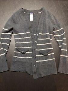 Womens Merino Wool Patagonia Gray Cardigan Size Small