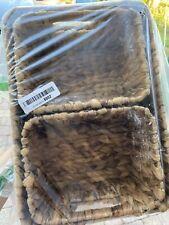 woven seagrass home storage bins baskets