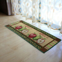 Apple Pattern Non-slip Door Mat Bathroom Floor Rug Hallway Kitchen Runner Carpet