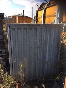 Wolff Müllbox Beton mit 2 Klappen inkl. Stahltür mit Verriegelung